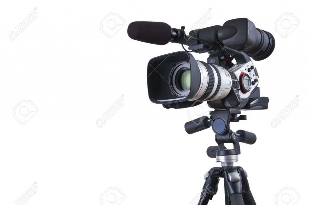 10296355-Professional-video-camera-set-on-a-tripod-with-copy-space-with-excellent-clipping-path--Stock-Photo